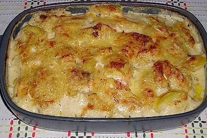 Kartoffelauflauf mit Lachs 1