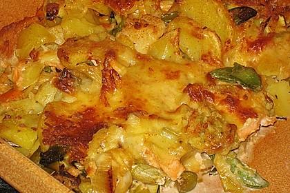 Kartoffelauflauf mit Lachs 2