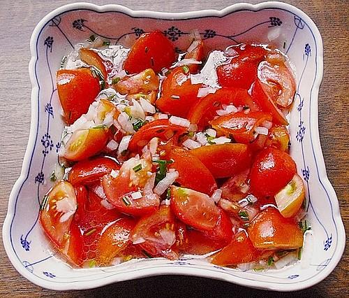 tomatensalat f r anf nger rezept mit bild von rick. Black Bedroom Furniture Sets. Home Design Ideas