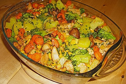 Bunter Gemüseauflauf 25