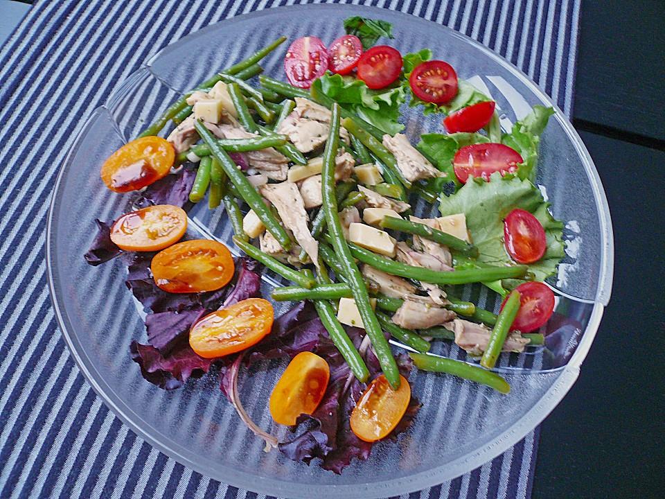 salat mit gr nen bohnen und h hnchen rezept mit bild. Black Bedroom Furniture Sets. Home Design Ideas