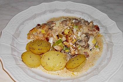 Eingelegte Porree - Schnitzel 2