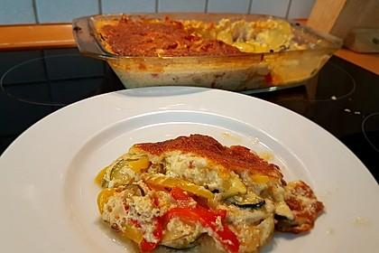 Zucchini - Paprika - Kartoffel - Auflauf 7