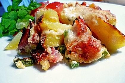 Zucchini - Paprika - Kartoffel - Auflauf 4