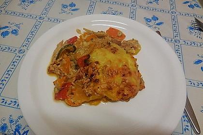 Zucchini - Paprika - Kartoffel - Auflauf 6