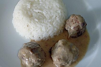 Fleischklößchen mit pikanter Soße 1