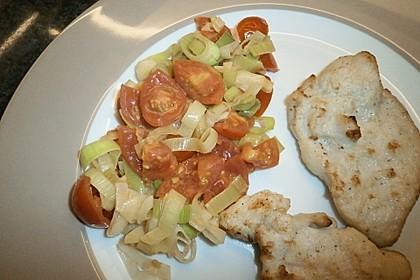 Lauchgemüse mit geschmolzenen Tomaten 5