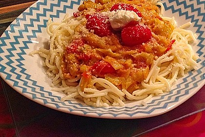 Lauchgemüse mit geschmolzenen Tomaten 1