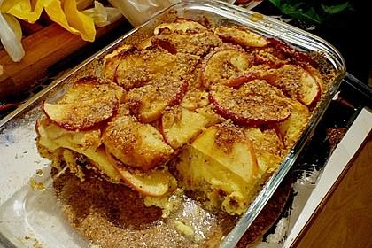 Brotauflauf mit Äpfeln 0