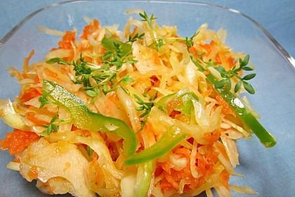 Griechischer Krautsalat mit Karotte und Paprika 1