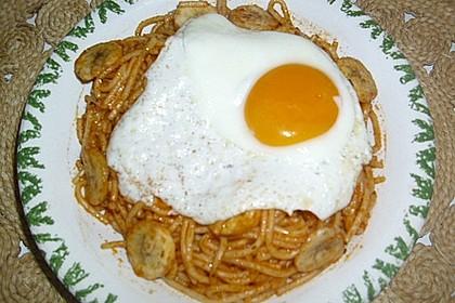 Spaghetti mit Bananen
