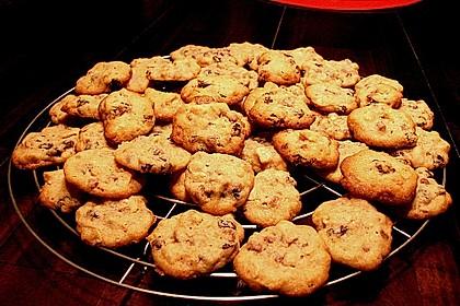 Erdnuss - Rosinen - Cookies