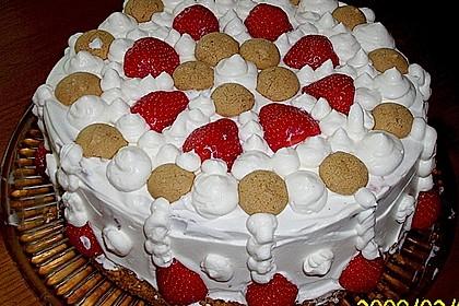 Gewickelte Erdbeer - Tiramisu - Torte 15
