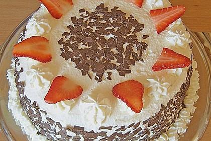 Gewickelte Erdbeer - Tiramisu - Torte 17