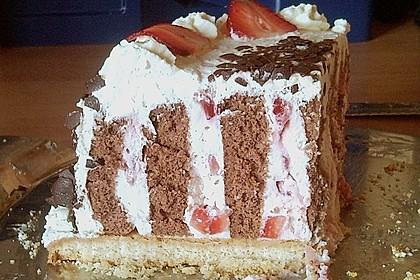 Gewickelte Erdbeer - Tiramisu - Torte 29