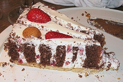 Gewickelte Erdbeer - Tiramisu - Torte 25