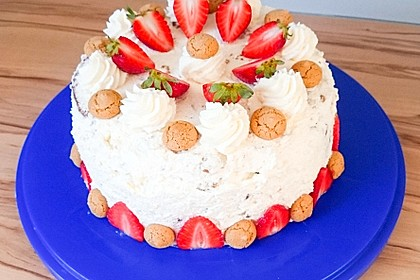 Gewickelte Erdbeer - Tiramisu - Torte 23