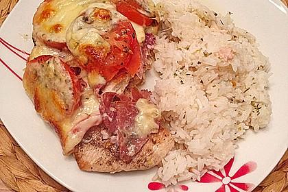 Hühnerfilets mit Prosciutto und Mozarella - gratiniert 0