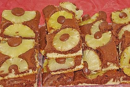 Marmorkuchen mit Ananas