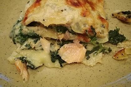 Leichte Spinat-Lachs-Lasagne 12
