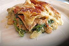 Leichte Spinat-Lachs-Lasagne