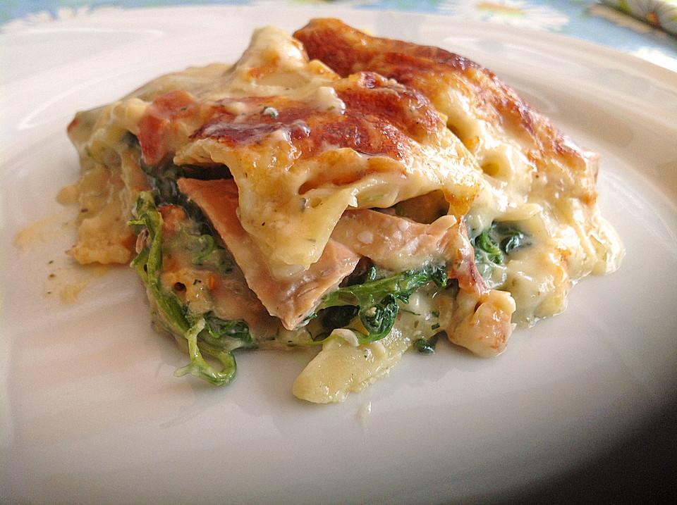 Leichte Spinat-Lachs-Lasagne von Chrissi09 | Chefkoch.de