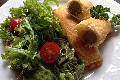 Bratwurst in Blätterteig 1