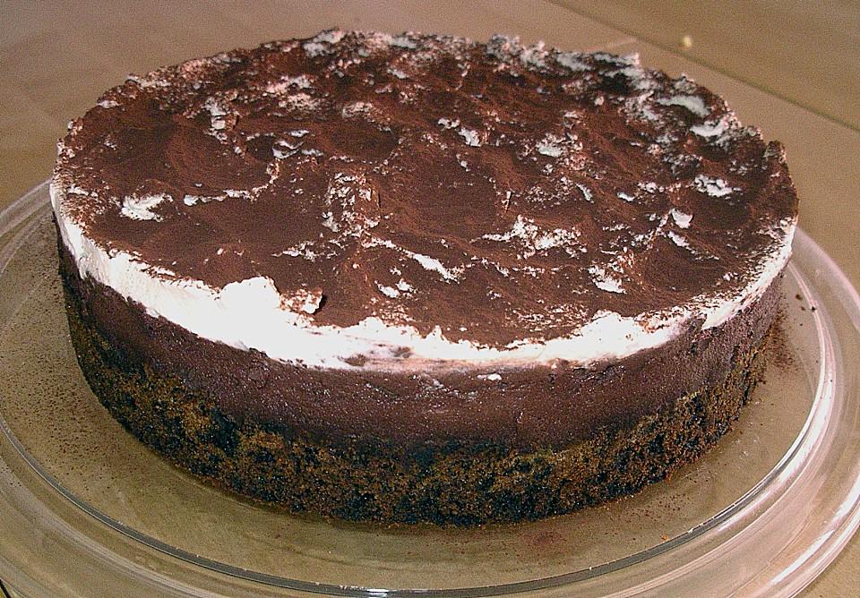 Mousse au chocolat kuchen kirschen