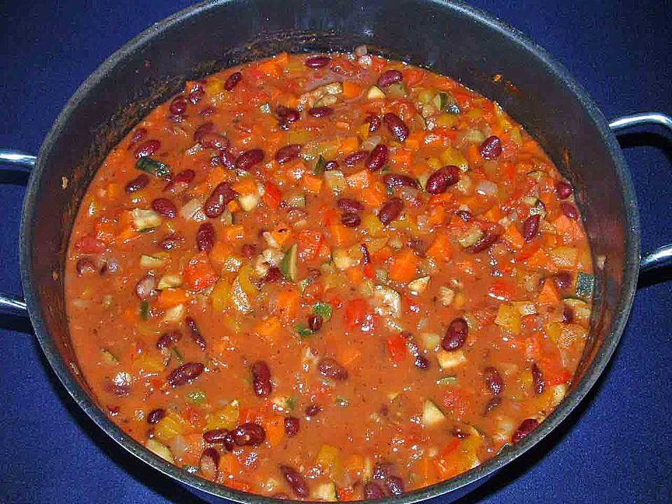 eintopf rezepte mit chilli con carne vegetarisch. Black Bedroom Furniture Sets. Home Design Ideas