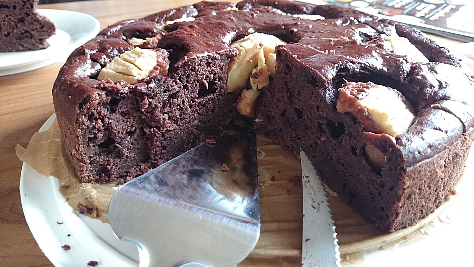 Kuchen mit schokolade drin