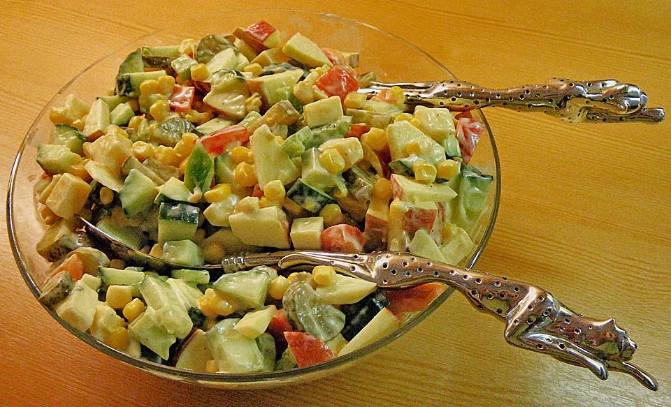 frischer salat rezept mit bild von goldfrau. Black Bedroom Furniture Sets. Home Design Ideas