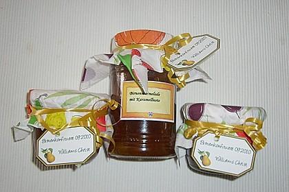 Birnenmarmelade mit Karamell 5