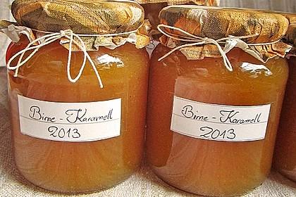 Birnenmarmelade mit Karamell 2
