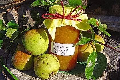 Birnenmarmelade mit Karamell