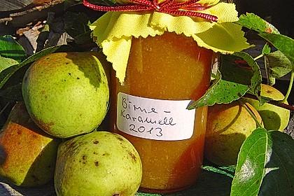 Birnenmarmelade mit Karamell 1