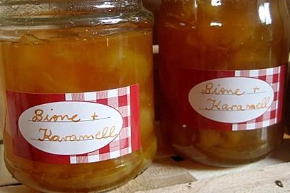 Birnenmarmelade mit Karamell 7