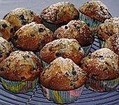 Weiße Schokoladen - Blaubeer Muffins (Bild)