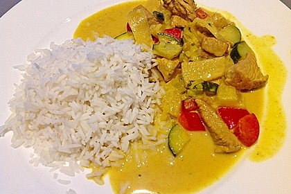 Rotes Hähnchencurry 4