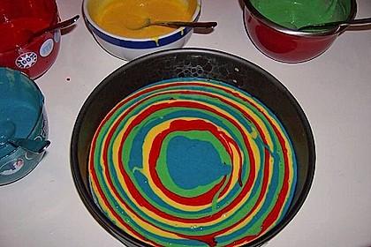Regenbogenkuchen 90