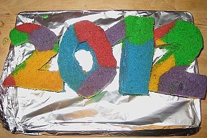 Regenbogenkuchen 100