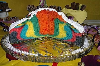 Regenbogenkuchen 60