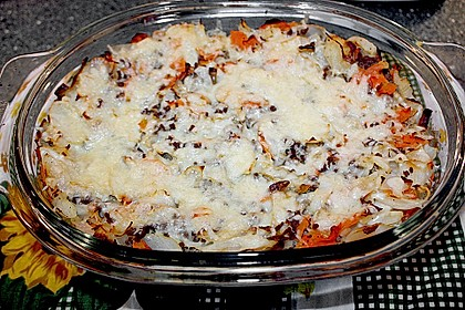 Weißkohl - Lasagne 1