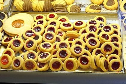 Plätzchen mit Marmelade 5
