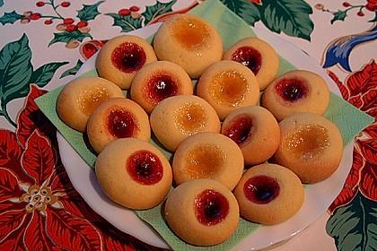 Plätzchen mit Marmelade 4