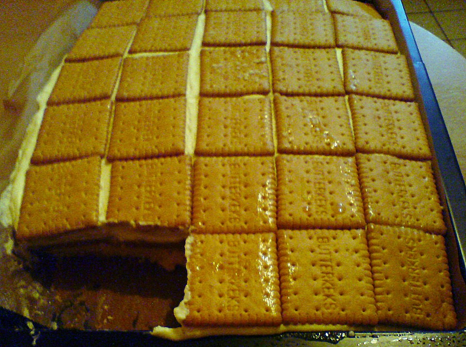 blechkuchen mit keksen rezept mit bild von regina223. Black Bedroom Furniture Sets. Home Design Ideas