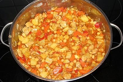 Gemüse - Kartoffel - Tajine mit Harissa 6