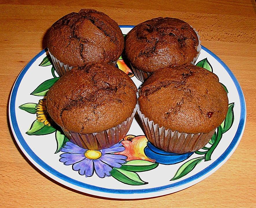 kirsch schokoladen muffins von rotessternchen. Black Bedroom Furniture Sets. Home Design Ideas