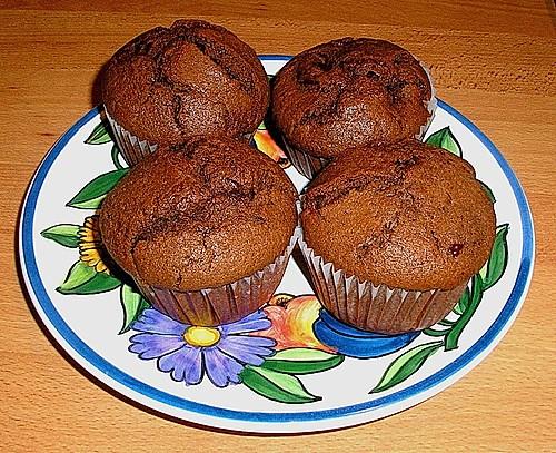 kirsch schokoladen muffins rezept mit bild von rotessternchen. Black Bedroom Furniture Sets. Home Design Ideas