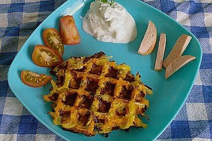 Kartoffel - Gemüse Waffeln 5