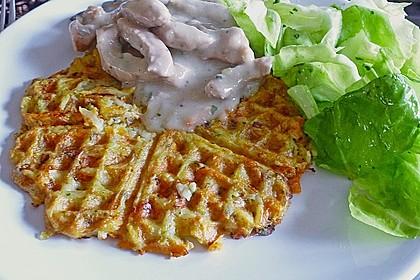 Kartoffel - Gemüse Waffeln 6